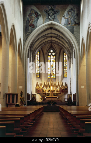 geography / travel, Germany, Baden-Wuerttemberg, Freiburg, churches, St. Martin church, interior view, Additional - Stock Photo