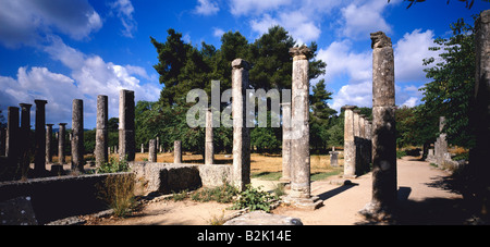 geography / travel, Greece, Olympia, shrine of Zeus since the 7th BC, ruin of the Palaestra (lounge of the athletes - Stock Photo