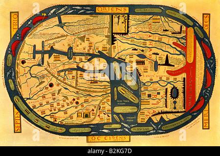 Map of Beatus - Stock Photo