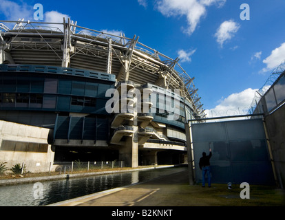 Croke Park, Dublin home of Gaelic sports in Ireland, where hurling and Gaelic football are played. - Stock Photo