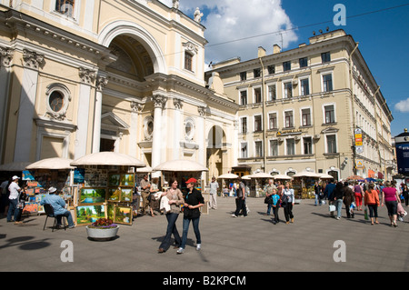 Nevsky Prospect, St Petersburg, Russia - Stock Photo