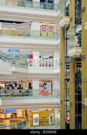 China, Shanghai, New World Mall interior, Nanjing Road - Stock Photo
