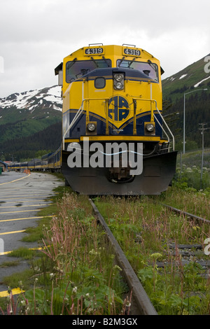 Locomotive to and alaskan train - Stock Photo