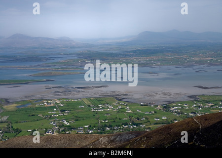 View on Clew Bay from the Croagh Patrick ascent path - Mayo - Ireland - Stock Photo