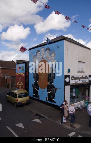 uk belfast loyalist paramilitary mural on the shankill. Black Bedroom Furniture Sets. Home Design Ideas
