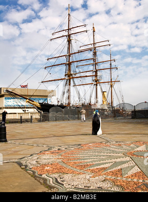 The RRS Discovery at Discovery Point, Dundee, Scotland. - Stock Photo