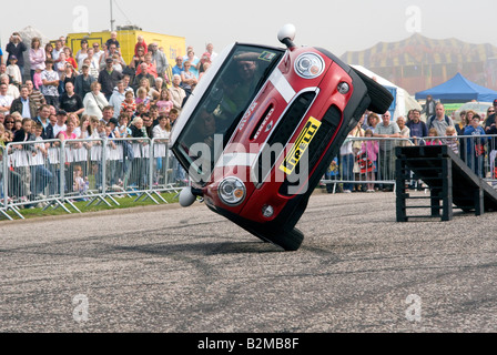 The Russ Swift Mini Display Team performing their stunts at the Arbroath Seafront Spectacular event in Victoria - Stock Photo