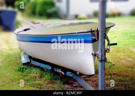 Forgotten Sailboat - Stock Photo