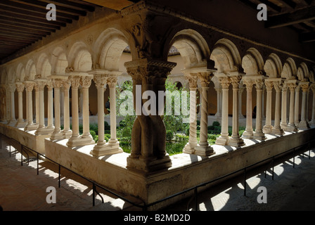 Cathedral Cloister in Aix-en-Provence, southern France - Stock Photo