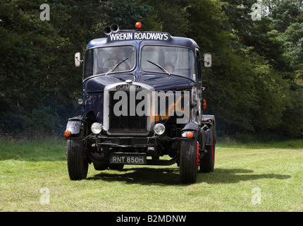 A vintage 1969-1970 Scammell lorry at the Cromford Steam Engine Rally 2008. - Stock Photo