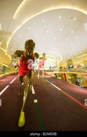 China Beijing Wangfujing Olympic sporting display - Stock Photo