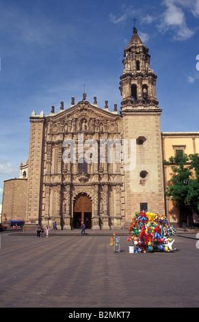Templo de Carmen church on the Plaza del Carmen, San Luis Potosi, Mexico - Stock Photo
