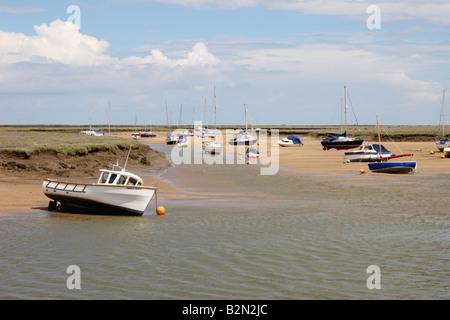 Wells Next the Sea, Saltmarshes, Norfolk, England. - Stock Photo