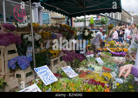 Columbia Road Sunday flower Market Hackney Road  East London GB UK - Stock Photo