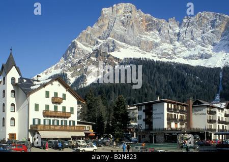 village view, san martino di castrozza, italy - Stock Photo