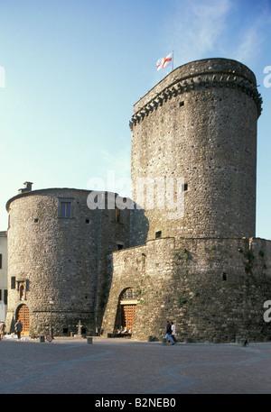 castle, varese ligure, italy - Stock Photo