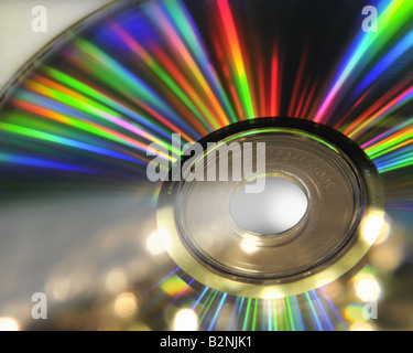 TECHNOLOGY CONCEPT: Close-up view of CD - Stock Photo