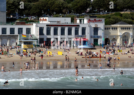 Harry Ramsdens fish and chip take away and restaurant on the beach at Bournemouth southern England - Stock Photo