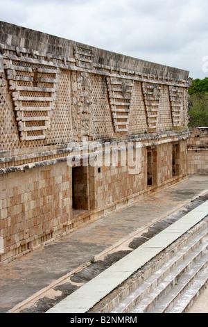 Nunnery Quadrangle, Uxmal Archealogical Site, Yucatan, Mexico - Stock Photo