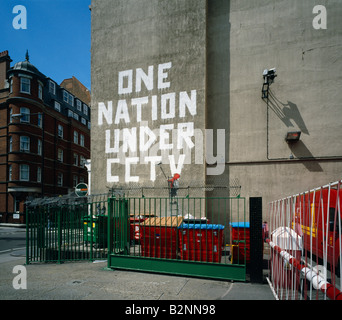 One Nation Under Cctv Graffiti By Banksy Newman Street