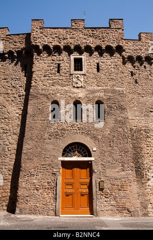 An entrance to the 'Passetto di Borgo', the narrow passage used by the Popes to escape during invasions, in Rome, - Stock Photo