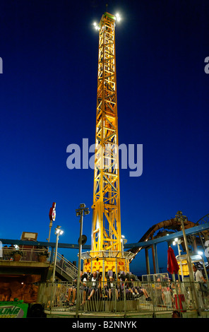 Amusement ride at the boardwalk Ocean City New Jersey USA - Stock Photo
