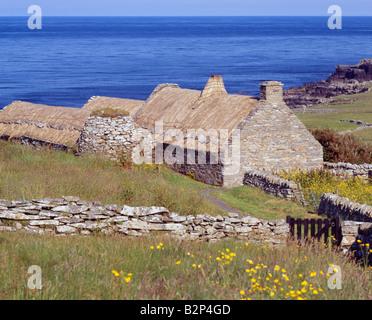 The Shetland Crofthouse Museum, Boddam, South Mainland, Shetland Isles, Scotland, UK - Stock Photo