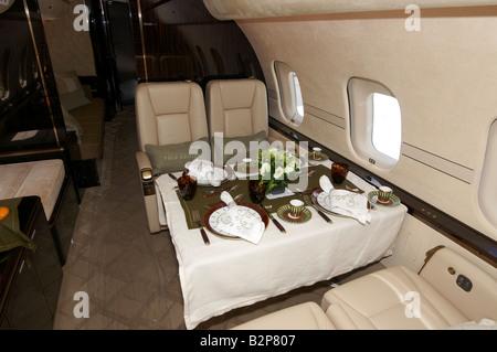 Bombardier Global 5000 Farnborough Air Show 2008 - Stock Photo