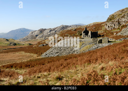 Disused quarry in Snowdonia - Stock Photo