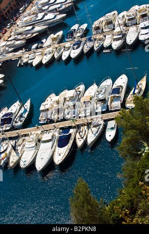 MONACO, MONTE CARLO. Fontvieille - Luxury bay in Monte Carlo in the Principality of Monaco in Europe. - Stock Photo