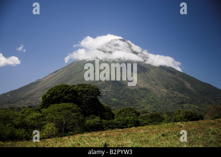 Volcan Concepciòn, an active volcano on Ometepe Island, Nicaragua in Central America. - Stock Photo