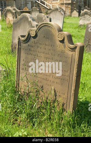St Marys Church graveyard Whitby North Yorkshire England UK United Kingdom GB Great Britain - Stock Photo