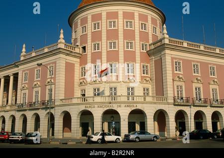 Central Bank building in Luanda, Angola. - Stock Photo