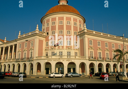 Central Bank building, Luanda, Angola - Stock Photo