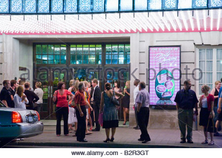 Intermission at Royal Alexandra Theatre in the Entertainment District on a summer night in Toronto Ontario Canada - Stock Photo