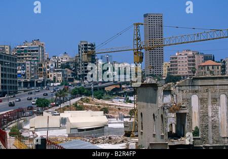 Construction in Beirut, Lebanon. - Stock Photo