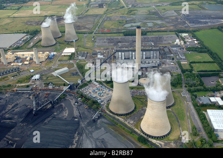 Aerial view Didcot Power Station - Stock Photo