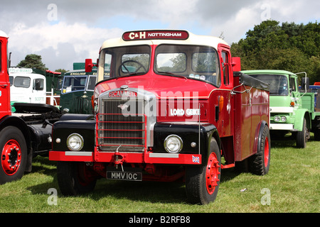 A Scammell vintage lorry at a rally in the U.K. - Stock Photo