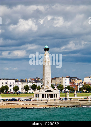 The Portsmouth Naval Memorial on Southsea Common, Portsmouth, Hampshire, England UK - Stock Photo