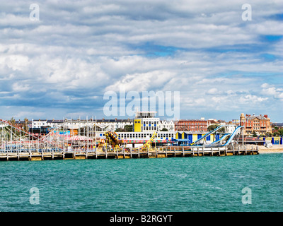 Clarence Pier Amusement Park at Southsea Portsmouth Hampshire England UK - Stock Photo
