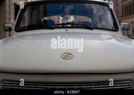 Front of a Trabant or 'Trabi,' the car made in the former East Germany. - Stock Photo