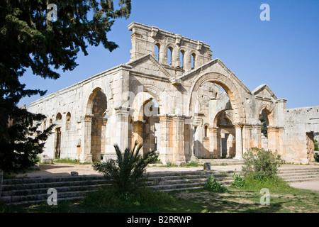 Ruins of the Basilica at Saint Simeon in Syria - Stock Photo
