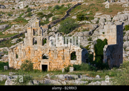 Cathedral Ruins at at Deir Samaan Dead City in Syria - Stock Photo