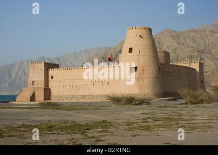 Bukha Fort on the Musandam Peninsula in Oman - Stock Photo