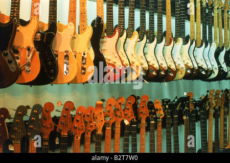 guitars in music shop stock photo royalty free image 5712951 alamy. Black Bedroom Furniture Sets. Home Design Ideas