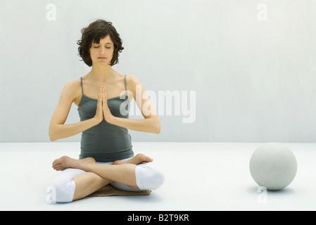 meditation balls in the hand stock photo 17018979  alamy