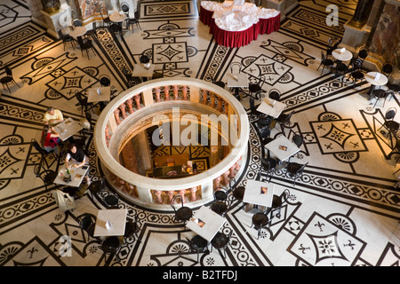 Cafe in the cupola hall of Kunsthistorisches Museum Art History Museum, Vienna, Austria - Stock Photo