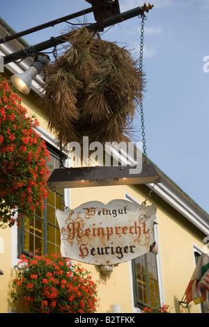 Aus'gsteckt, Heuriger Reinprecht, Grinzing, near Vienna, Austria - Stock Photo