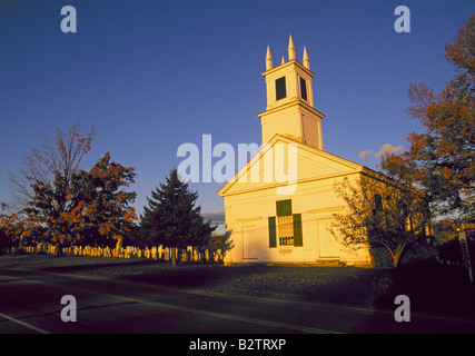 A Beautiful Country Church In The October Color Change At Sunset Near Town Of Rupert