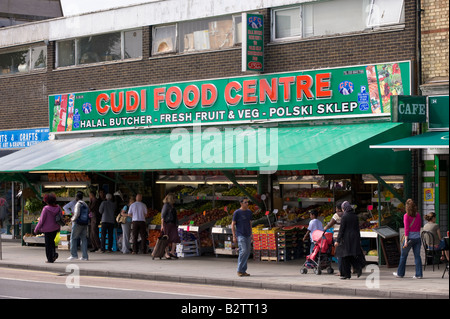 Grocery store in West Ealing selling Polish and Middle Eastern food W13 London United Kingdom - Stock Photo
